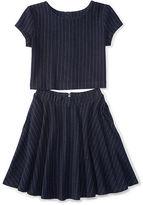 Ralph Lauren Striped Cotton Top & Skirt Set