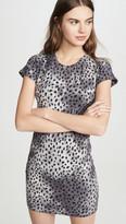 Monrow Cheetah Cap Sleeve Tee Dress