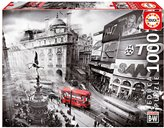 Educa Borras Puzzle Piccadilly Circus Coloured Black and White (1000 Pieces)