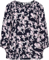 Studio Plus Size Smocked floral blouse