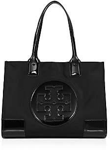 Tory Burch Women's Mini Ella Patent Leather-Trimmed Nylon Tote
