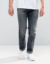 Diesel Buster Jeans Regular Slim Stretch Fit Jeans 845s Blue Grey Wash