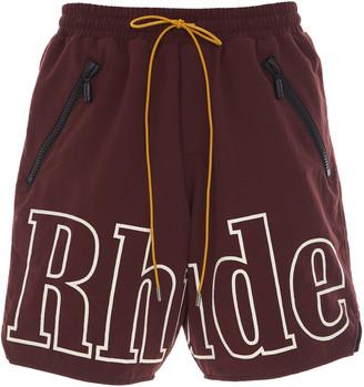 Rhude Drawstring Logo Shell Shorts