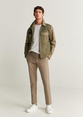 MANGO Pockets two-tone jacket