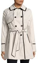 Betsey Johnson Lace-Up Back Corset Trench Coat