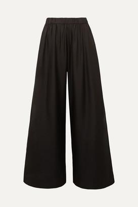 Deitas Silk-twill Wide-leg Pants - Black