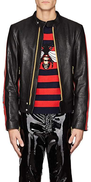 Gucci Men's Leather Moto Jacket