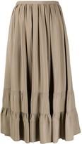 No.21 Tiered Midi Skirt