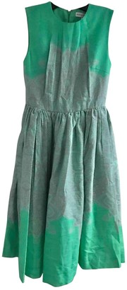 Jonathan Saunders Green Cotton Dresses