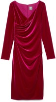 Vince Camuto Velvet Ruched Dress
