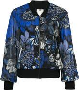 Fuzzi floral print bomber jacket