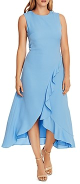 Vince Camuto Asymmetrical Ruffled Dress