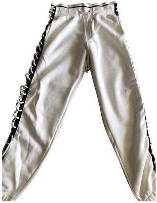 FENTY PUMA by Rihanna White Cotton Trousers for Women