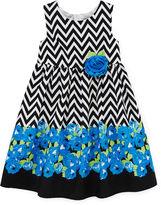 JCPenney Disorderly Kids Sleeveless Floral Chevron Dress - Girls 4-6x