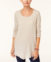 Style&Co. Style & Co Ribbed Asymmetrical-Hem Top, Created for Macy's