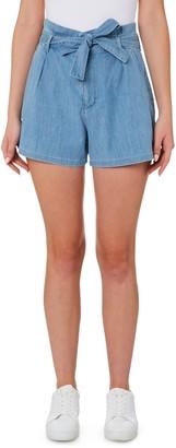 Outland Denim Goldie High Paperbag Waist Denim Shorts