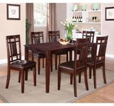 Standard Furniture Westlake 7-Piece Table and Chair Set in Golden Brown