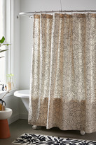 Urban Outfitters Kacy Floral Stitch Print Shower Curtain