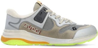 Gucci Ultrapace Mesh & Embossed Suede Sneakers