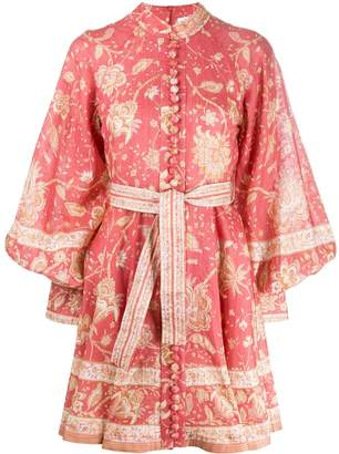 Zimmermann paisley print structured dres
