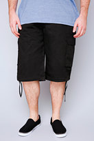 Yours Clothing NOIZ Black Cotton Cargo Shorts With Pockets