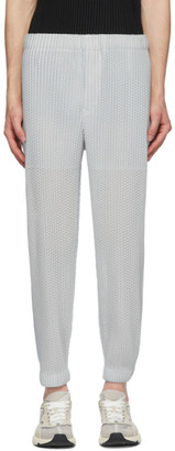 Homme Plissé Issey Miyake Grey Outer Mesh Trousers