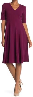 Donna Morgan V-Neck Fit & Flare Dress