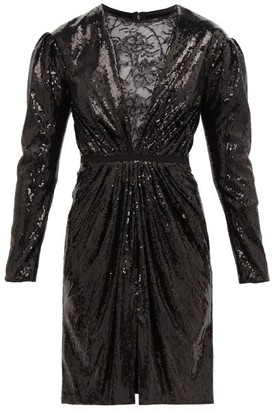Giambattista Valli Lace And Sequin Mini Dress - Black