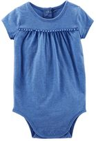 Osh Kosh Baby Girl Pom-Pom Bodysuit