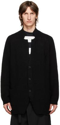 Yohji Yamamoto Black Knit Wool Blazer