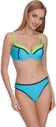 Merry Style Women's Bikini Set MS75 (Blue/Green EU 38 (UK 10))