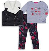 Betsey Johnson Girls 2-6x Vest, Tee and Pants Set