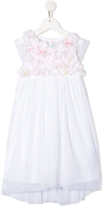 Billieblush Floral Applique Tulle Overlay Dress