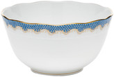 Herend Blue Fish Scale Round Bowl