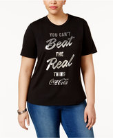 Mighty Fine Trendy Plus Size Coca-Cola Graphic T-Shirt