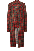 Rosetta Getty Japanese Tartan Split Front Shirt