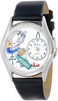 Whimsical Watches Women's S0610018 Respiratory Therapist Black Leather Watch