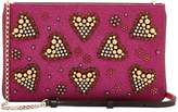 Christian Louboutin Women's Beaded Heart Crossbody Bag