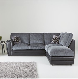 Monico Right Hand Single Arm Standard Back Corner Chaise Sofa + Footstool