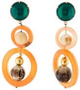 Marni Round Horn Drop Earrings