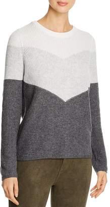 Design History Color-Block Back-Zip Sweater