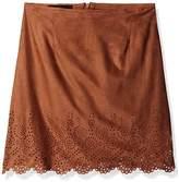 Amy Byer Big Girls' Knit Suede Lasercut Skirt