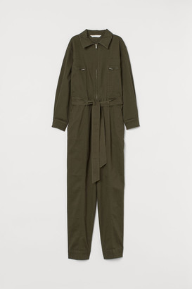 H&M Jumpsuit with Tie Belt - Green