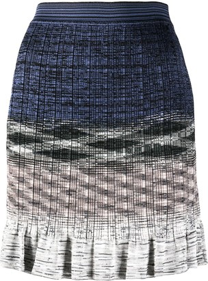 Missoni Knitted Ruffled Skirt