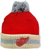 Reebok CCM Stripe Cuffed Pom Knit Toque - Detroit Wings