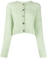Acne Studios ribbed detail cropped cardigan
