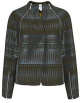Amanda Wakeley Tapis Khaki Jacquard Jacket