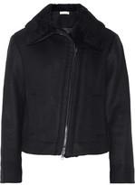 Vince Shearling-Trimmed Wool-Blend Jacket
