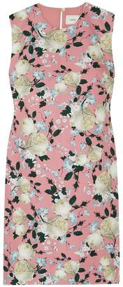 Erdem Rivanna Pleated Floral-print Cotton-drill Dress