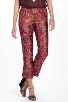 Anthropologie Paisley Brocade Crops